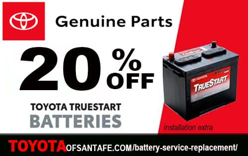 20% off Batteries