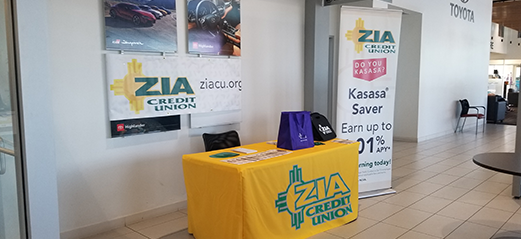 Zia Credit Union Booth at Toyota of Santa Fe