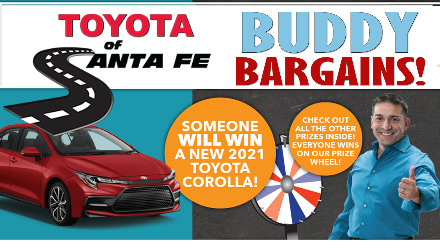 Buddy Bargains Win A Car! Spin the Wheel
