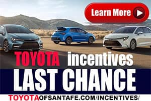 Last Chance toyota incentives