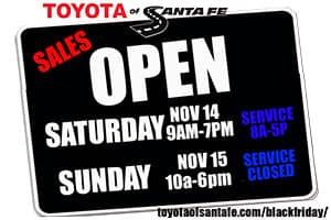Open Saturday Nov 14 -Sunday Nov 15
