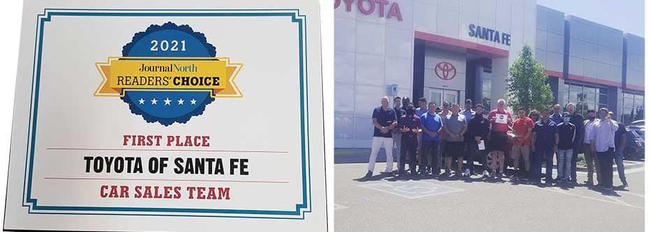 Readers Choice Award Bset Car Sales Team