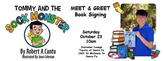 Tommy and the Sock Monster Book Signin