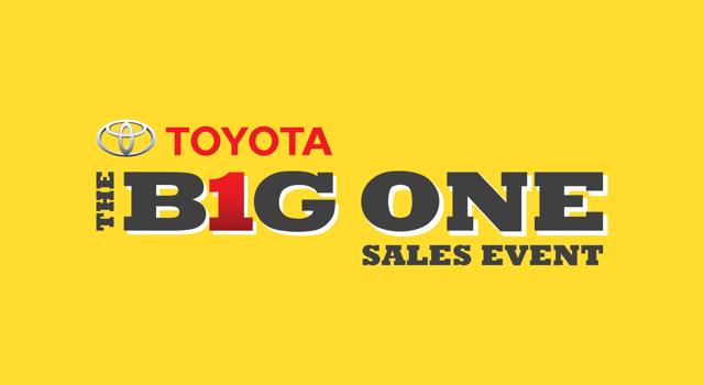 Toyota Big One Sales Event