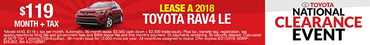 Rav4 National Clearance