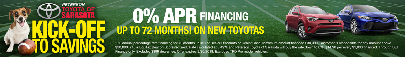 0% APR Kickoff to Savings