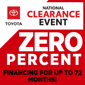 0% APR FINANCING for 72 MONTHS ON ALL NEW 2019 TOYOTAS!