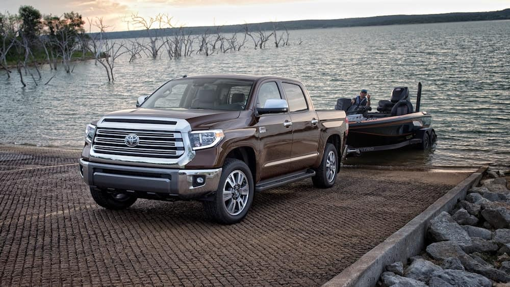 2019 Toyota Tundra with a boat