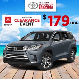 2019 Toyota Highlander LE 4Cyl.  $179 mo!