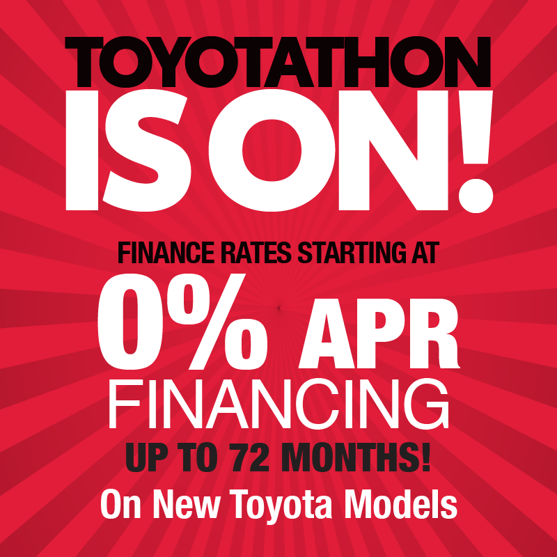 0% APR Financing for 72 Months on New 2019 Toyotas