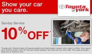 Sunday Auto Service sale York PA