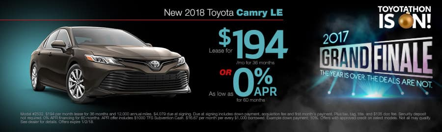 New 2018 Toyota Camry Special