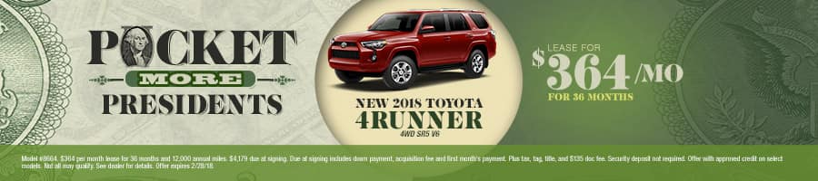 New 2018 Toyota 4Runner Special