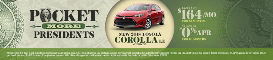 New 2018 Toyota Corolla Special