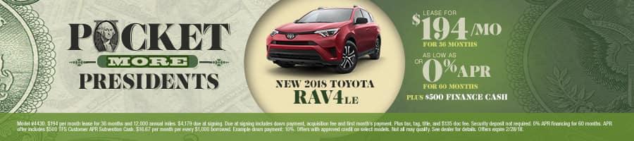 New 2018 Toyota Rav4 Special