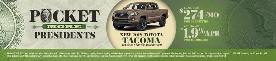 New 2018 Toyota Tacoma Special