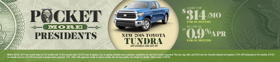 New 2018 Toyota Tundra Special