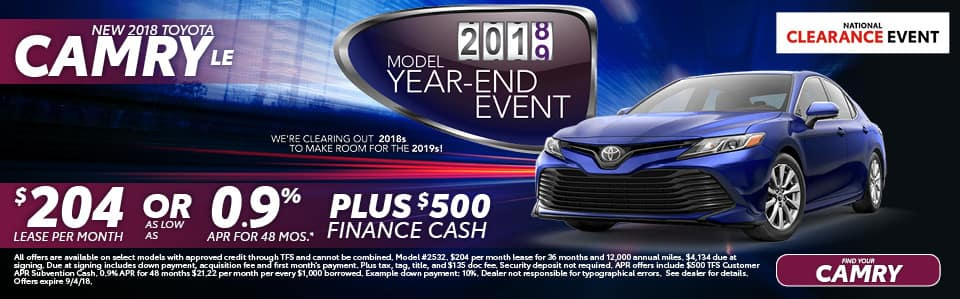 New 2018 Toyota Camry LE York PA