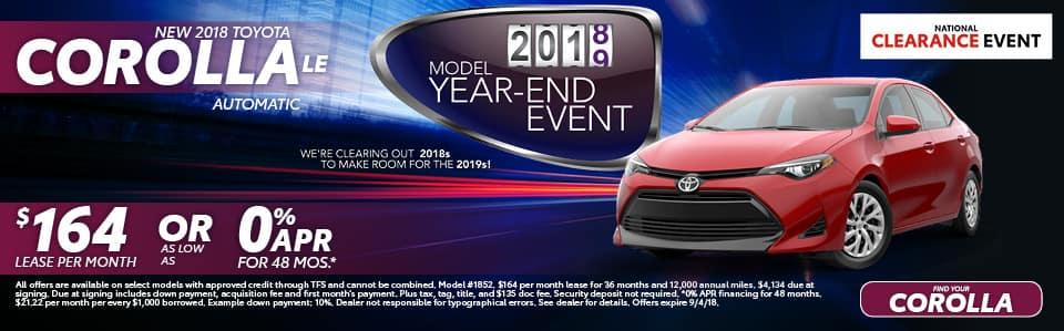 New 2018 Toyota Corolla LE York PA