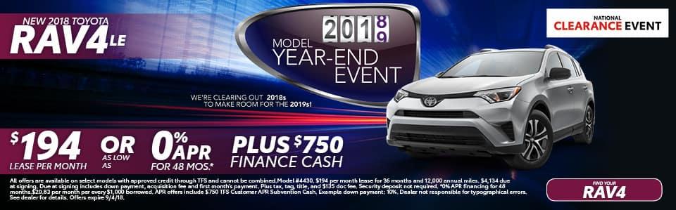 New 2018 Toyota RAV4 LE York PA