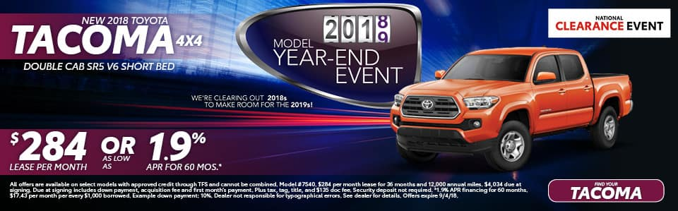 New 2018 Toyota Tacoma York PA