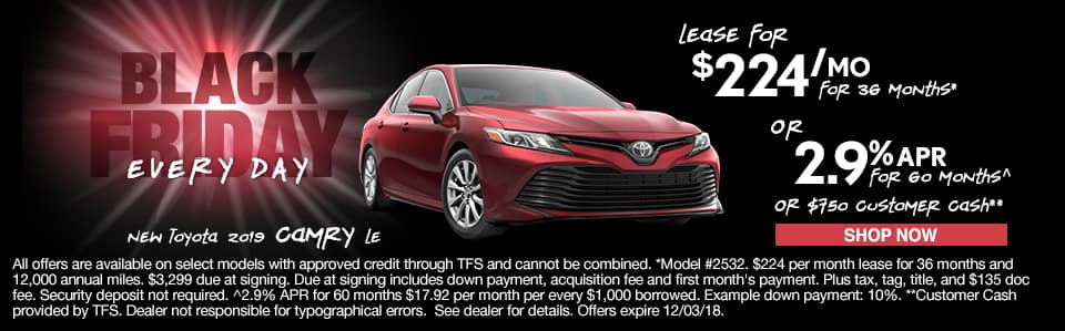 New 2019 Toyota Camry LE York PA