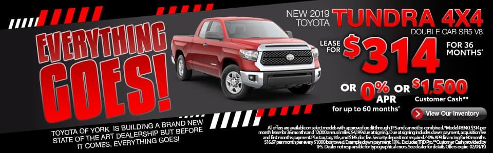 New 2019 Toyota Tundra York PA