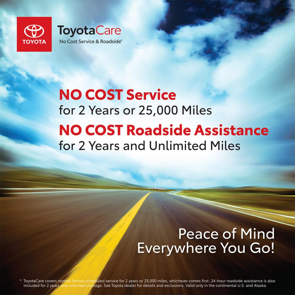 ToyotaCare No Cost Service & Roadside Assistance