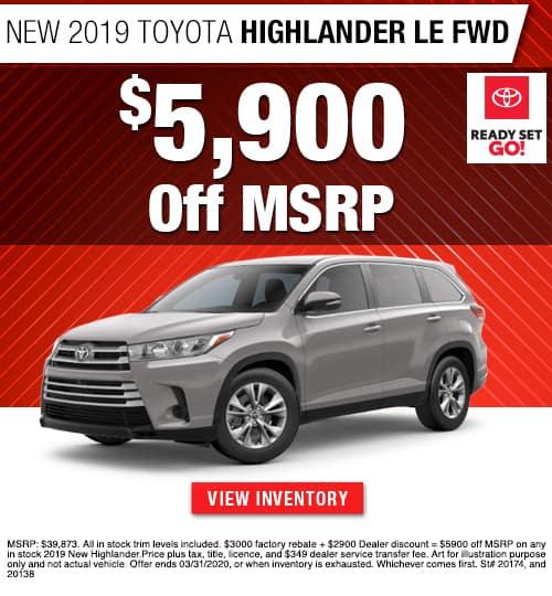 2020 Toyota Highlander LE FWD