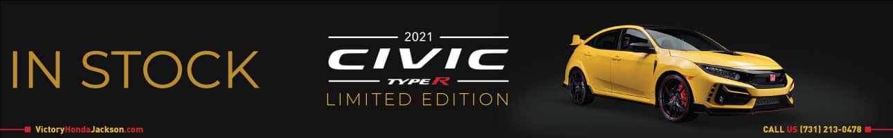 2021 Honda Civic Type R Limited Edition in stock at Victory Honda of Jackson