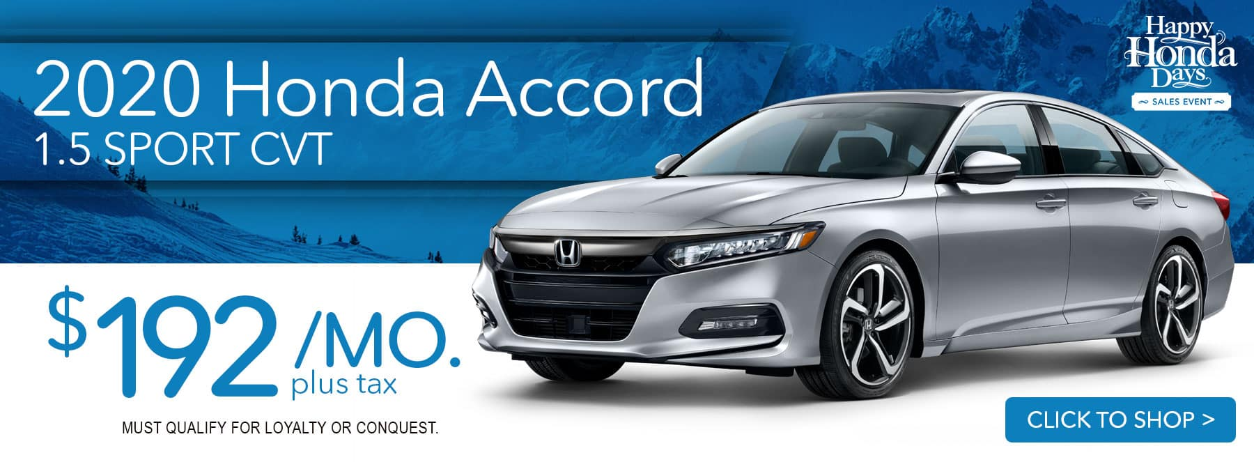 2020 Honda Accord 1.5 Sport $192 a month