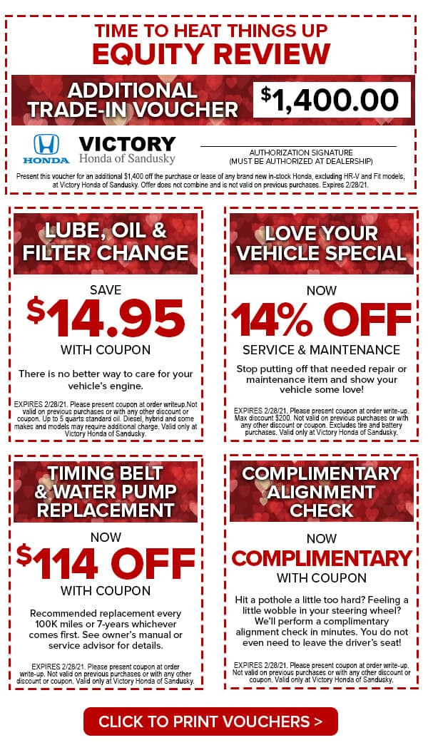 Victory Honda of Sandusky Valentines Shopping Voucher