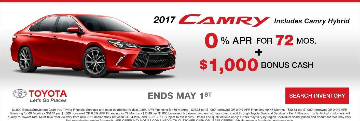 2017 Camry 0.0% APR