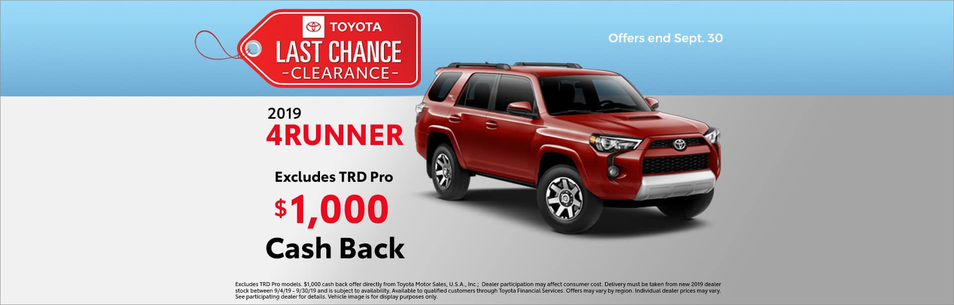 last chance clearance 4runner