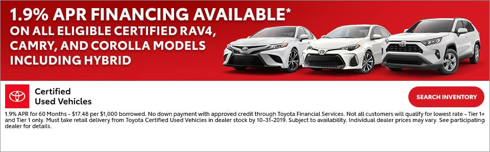 1.9% apr financing available