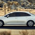 2020 Toyota Corolla driving in SoCal desert MPG banner