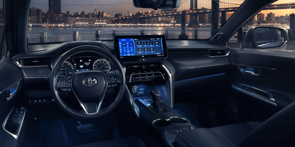 2021 Toyota Venza Interior Dashboard with city skyline in view
