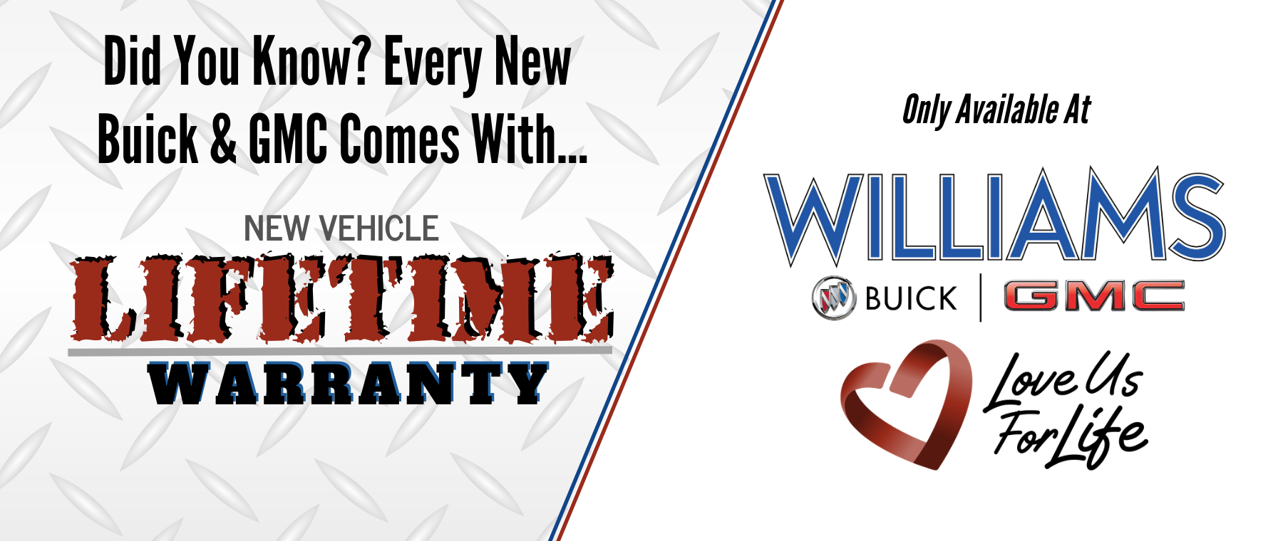 Lifetime Warranty Available at Williams Buick GMC in Charlotte, NC