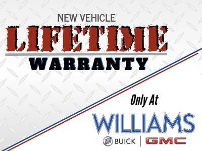 New Vehicle Lifetime Warranty - Included!