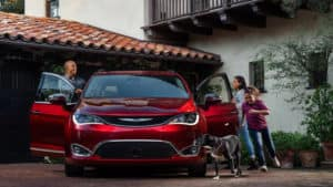 2017 Chrysler Pacifica with family