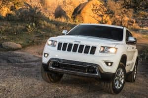 Jeep Grand Cherokee on hill