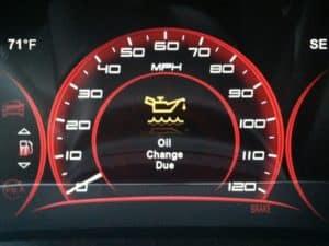 Oil change warning