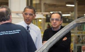 Sergio Marchionne and Barak Obama