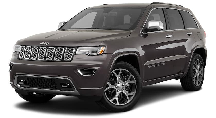 A grey 2021 Jeep Cherokee is angled left.